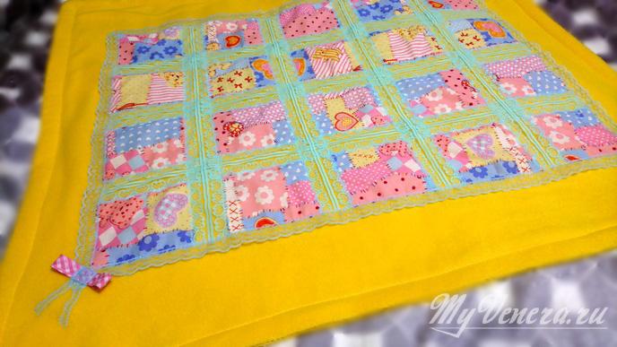Сшить детское одеяло из флиса